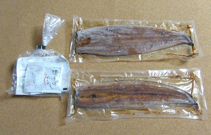 鹿児島県産うなぎの蒲焼きの同梱物
