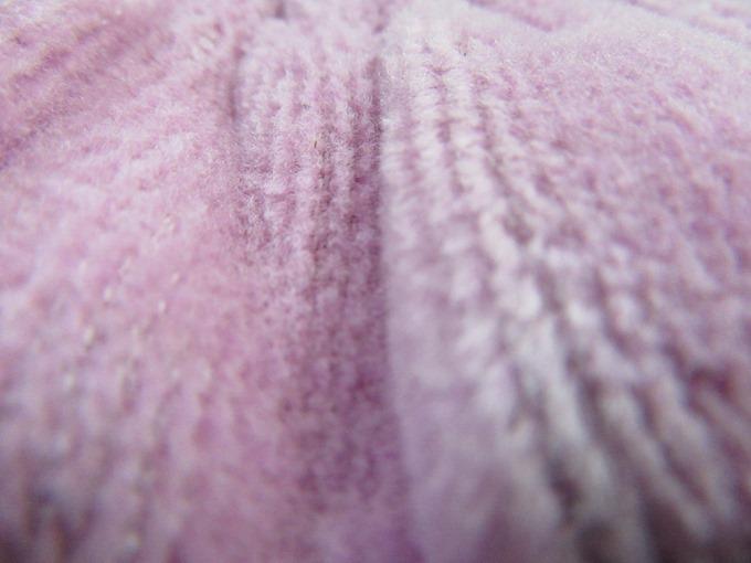 発熱コットン毛布の起毛部分
