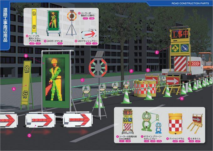 工事安全機材のカタログ写真