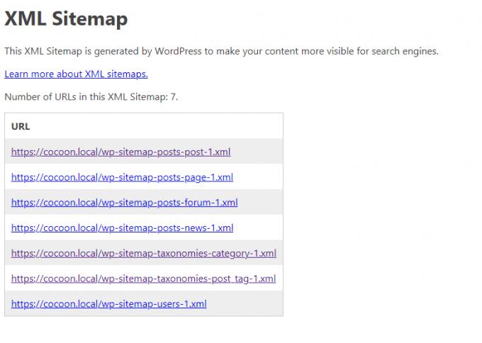 WordPress標準のサイトマップ機能