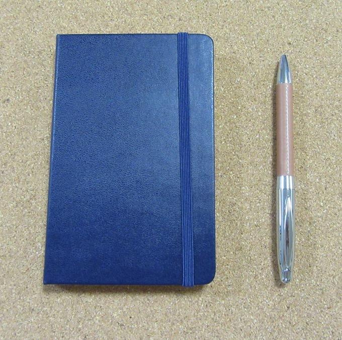 「モレスキンハードカバーノートブック」&「ボールペン」セット