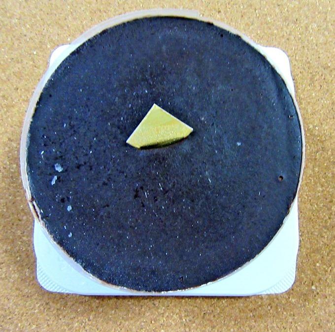 フロム蔵王のチョコレートケーキ(上から)