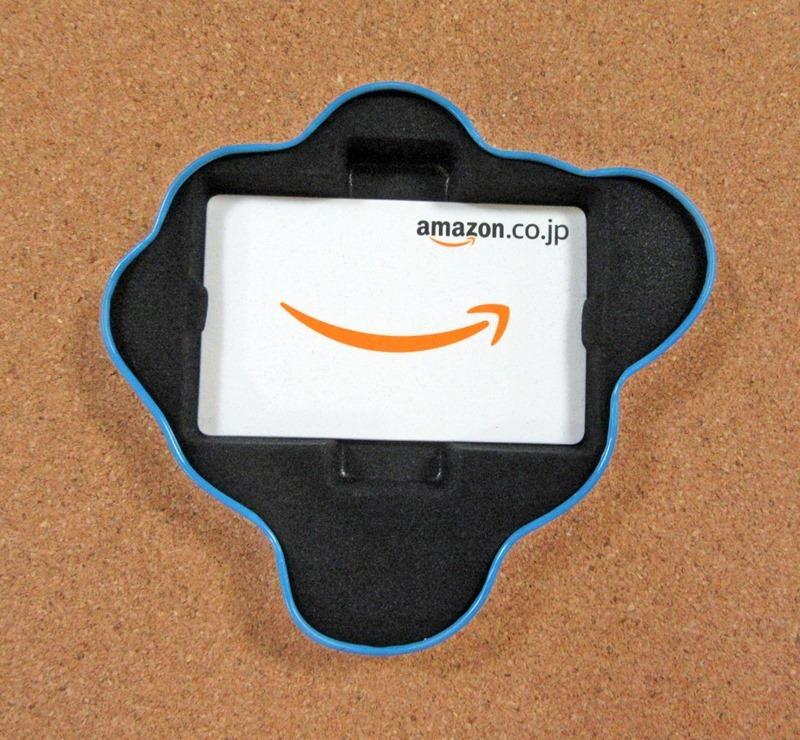 Amazonギフト券ボックスのバルーン缶の蓋を開けた状態